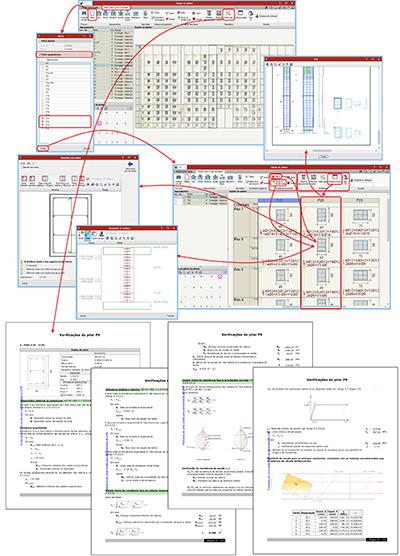 Edição sobre quadro de pilares